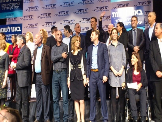 Yonah covering Yesh Atid during the election